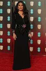 Mexican actress Salma Hayek poses on the red carpet upon arrival at the BAFTA British Academy Film Awards at the Royal Albert Hall in London on February 18, 2018. Picture: AFP PHOTO / Daniel LEAL-OLIVAS