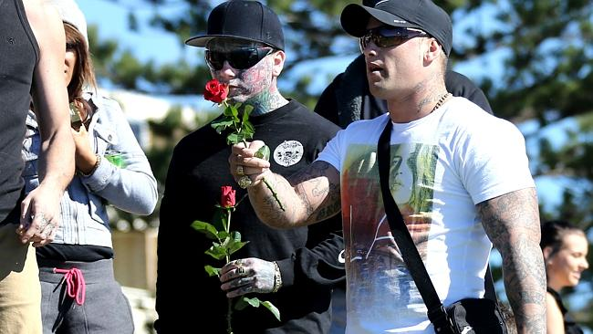 riends of Broadbeach murder victim Max Waller gather at the top of Burleigh Heads Hill to
