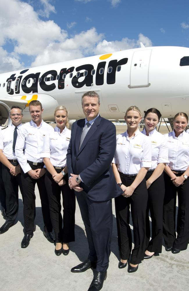 Tigerair Australia chief executive Rob Sharp, with some of his team.