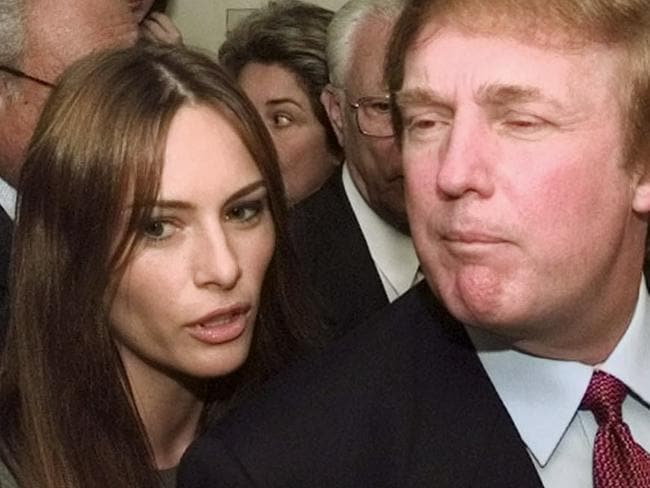 Donald Trump and then-model Melania Knauss in Miami in 1999, a year after they started dating. Picture: AP Photo/Wilfredo Lee