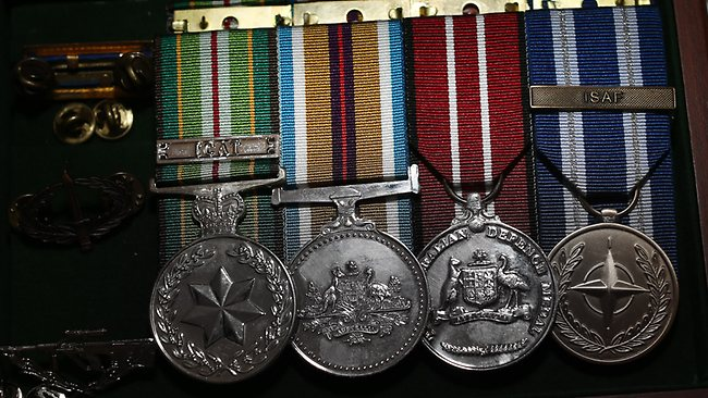 Private Robert Poate's campaign medals