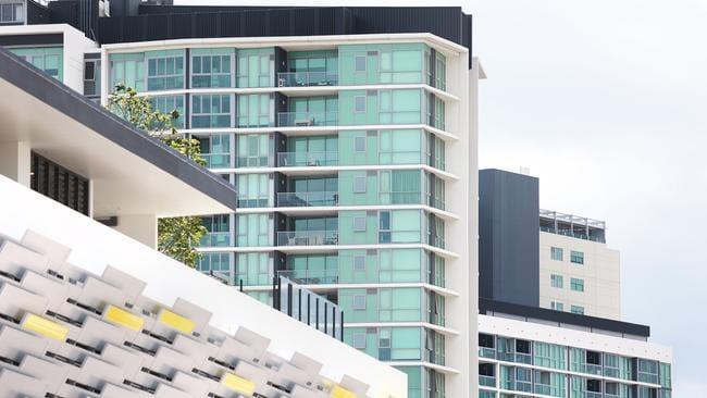 Apartment blocks at Portside, Hamilton. Photo: Claudia Baxter.
