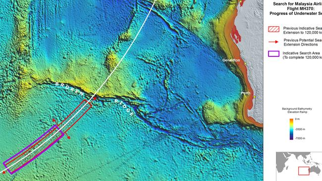 The priority search zone for MH370 is three-quarters complete. Picture: ATSB