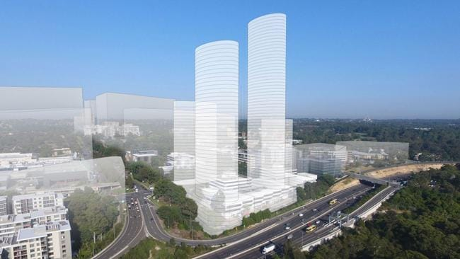 Meriton's proposed project at Macquarie Park, Ryde.