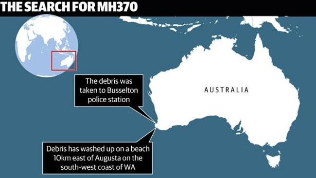 New discovery... Debris has been found near the coast off Western Australia. Source: News Corp Australia