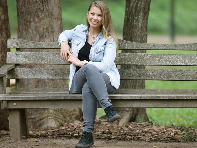 Bindi Irwin is turning 16 but her grandfather won't be at the party. Picture: Jamie Hanson