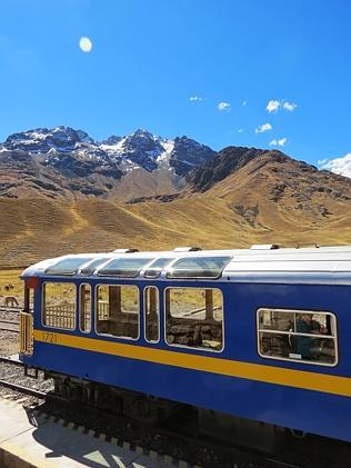 The Andean Explorer at La Raya, 4321m above sea level. Picture: Sarah Nicholson