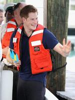<p>Prince Harry waves as he leaves Harbour Island after a visit in Nassau, Bahamas.</p>  <p>Picture: Getty</p>