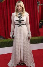 Abbie Cornish arrives at the 24th annual Screen Actors Guild Awards at the Shrine Auditorium Expo Hall on Sunday, Jan. 21, 2018, in Los Angeles. Picture: Matt Sayles/Invision/AP