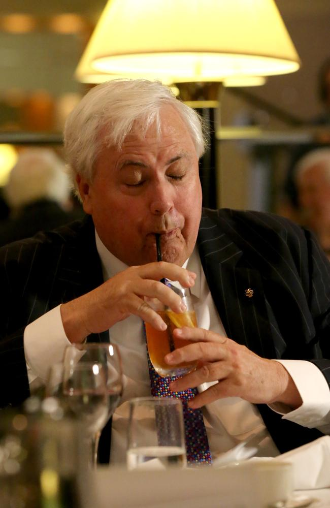 Happy meal ... Clive Palmer says dessert was the best part about his dinner with Treasurer Joe Hockey. Picture: Ray Strange