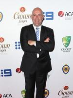Darren Lehmann on the red carpet arriving at the 2014 Allan Border Medal held at Doltone House at Hyde Park. Picture: Richard Dobson