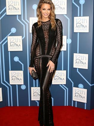 Jennifer Hawkins on the red carpet at the ASTRA Awards. Picture: Mark Metcalfe/Getty Images