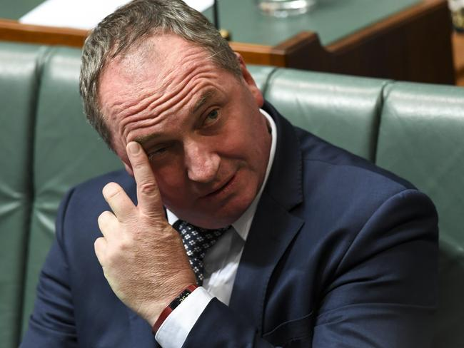 Allegations keep stacking up against Deputy Prime Minister Barnaby Joyce. Picture: Lukas Coch/AAP