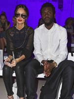 Nicole Trunfio and Gary Clark Jr attend the Mercedes-Benz Fashion Week Australia Lee Mathews runway show on April 14, 2015 at Carriageworks in Sydney. Picture:Splash