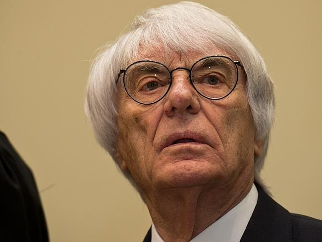 The 83-year-old business magnate of Formula One racing waits for the first day of his trial for bribery in Munich, Germany. Picture: Joerg Koch