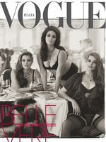 Australian plus-size model Robyn Lawley is pictured as she appears on the cover of Vogue Italia. Picture: Supplied