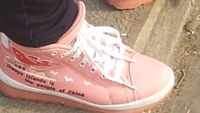 Dr Varrall saw someone wearing these shoes in China just a few years back. Photo credit: Richard Garratt.