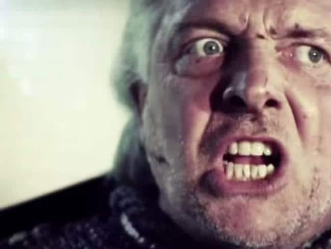 "Public campaign ... A screengrab from the video for ""Noble England"", Rik Mayall's forgot World Cup anthem."