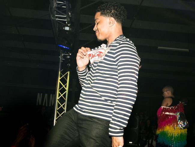 Justin Combs onstage. Picture: Lady Drewniak