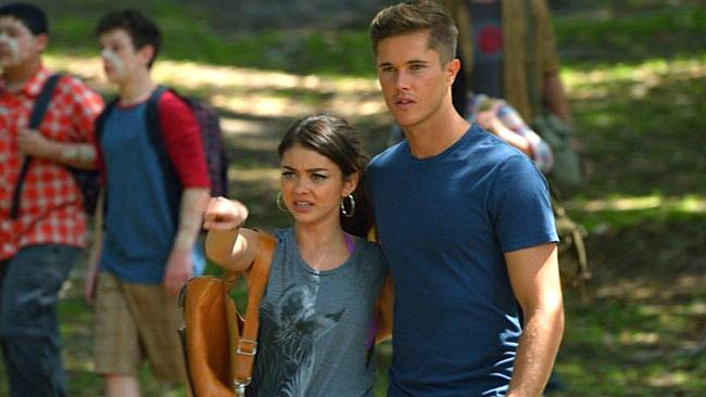 Sarah Hyland and Jye Williams in a scene from the Aussie-filmed episode of  <i>Modern Family. </i>