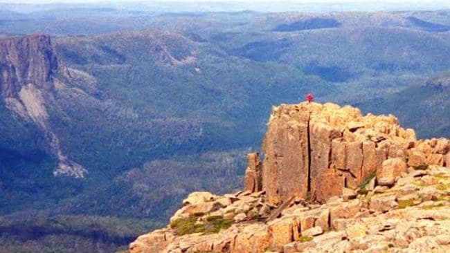 Mount Ossa in Tasmania poses a biggest plea for Courtney Atkinson. Picture: News Corp Australia