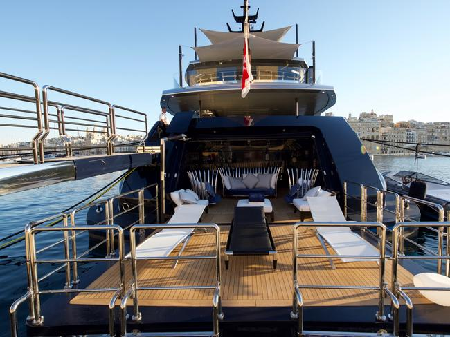 The Sarastar superyacht is the perfect place for models and moguls to mix. Picture: Burgess Yachts