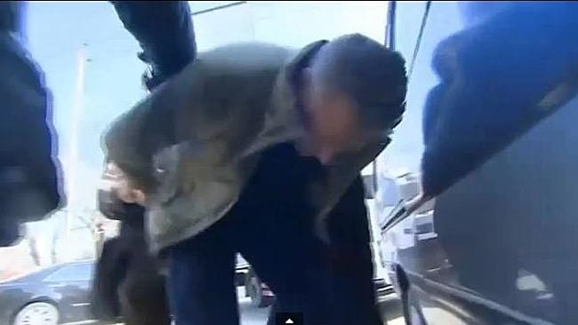 CNN reporter David McKenzie being manhandled by Chinese police. Picture: YouTube