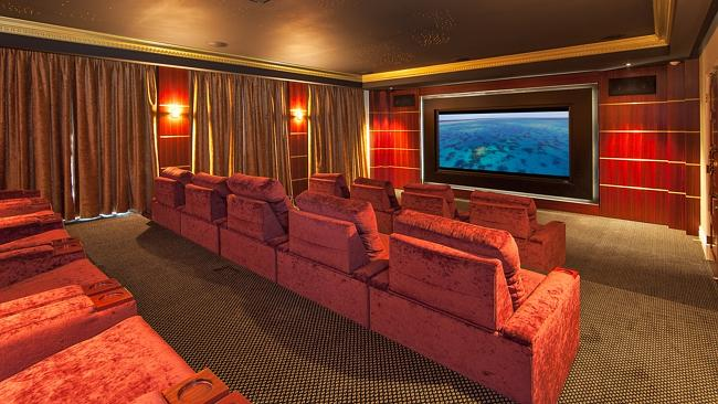 The luxury theatre room at 10 Water St, Wahroonga