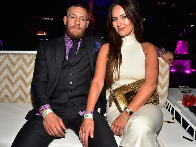 Conor McGregor and wife Dee Devlin. Picture: David Becker/Getty Images