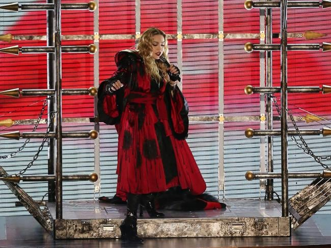 Madonna takes to the stage at Melbourne's Rod Laver Arena over the weekend. Picture: Yuri Koluzmin