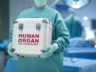 surgeon with his fresh delivery Learn poster, June 23 organ donation