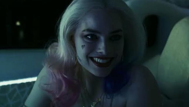 Lip service ... Margot wears smeared make-up and a facial tattoo of a love heart. Picture: Warner Bros