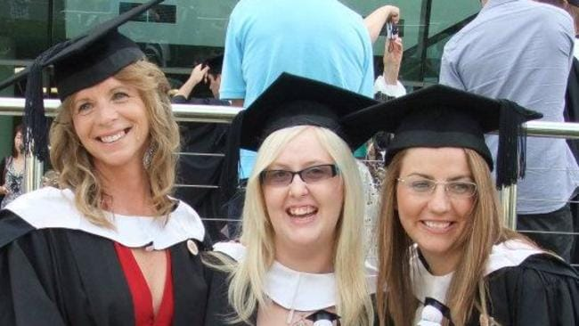 Susan Jane (left) has never worked in Health Promotion despite graduating in 2011 in the top five per cent of her cohort. Picture: Supplied