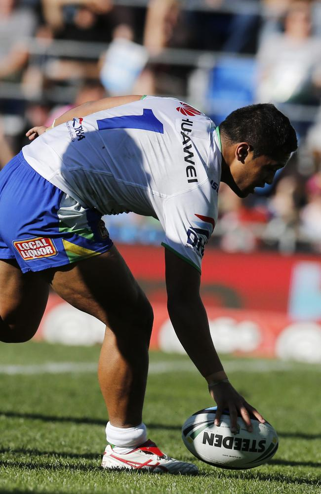 Anthony Milford crosses for his first try. Picture: Jerad Williams