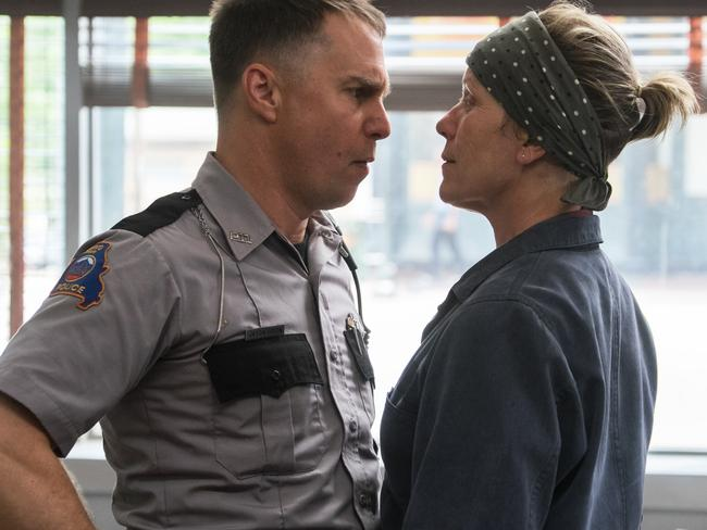 Sam Rockwell played a racist policeman opposite Frances McDormand in  <i>Three Billboards Outside Ebbing, Missouri</i>. Picture: Merrick Morton/Fox Searchlight via AP