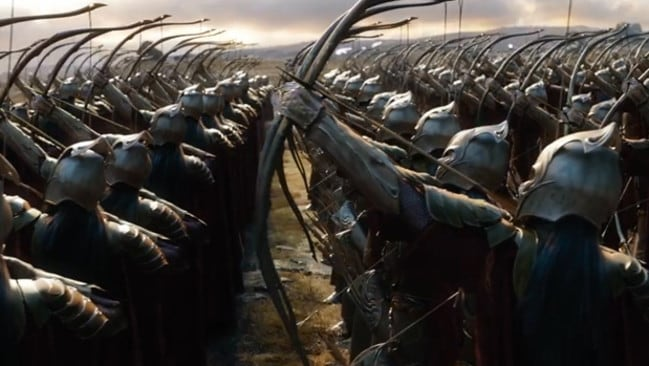 Dramatic ... the new Hobbit film includes an epic battle scene.