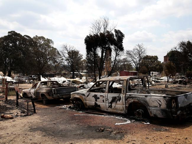 Yarloop was left devastated after a bushfire raged through it earlier this month. Picture: News Corp Australia.
