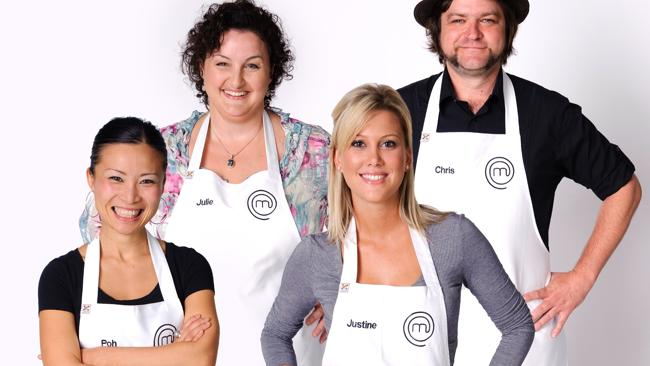 Season one finalists: Poh Ling Yeow, Julie Goodwin, Justine Schofield and Chris Badenoch.