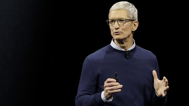 Apple boss Tim Cook. The company has come out publicly to back marriage equality in Australia. Picture: AP.
