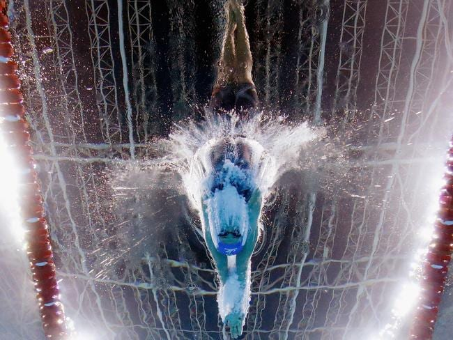 Larissa Oliveira of Brazil swims the women's 200m freestyle heats during the Maria Lenk Trophy competition at the Aquece Rio Test Event for the Rio 2016 Olympics at the Olympic Park on April 17.
