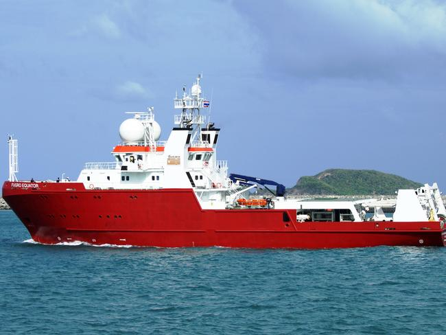 MH370 hunt ... Fugro Equator is completing bathymetric mapping of the search site, and will then return to the area to assist with the underwater search. Picture: AFP