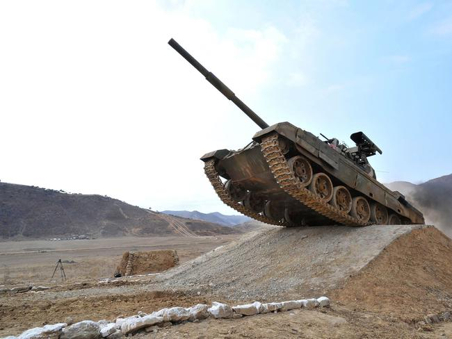 The Korean People's Army Tank Crews' Competition-2017 at an undisclosed location. Picture: AFP