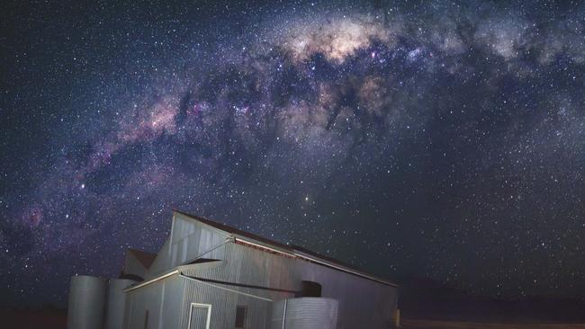 OUTBACK DISPLAY: The Milky Way at Oraparrina Station .  <b>Picture: STEPHEN FILDES</b>