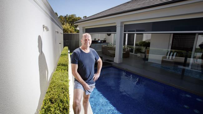 Ken hinkley shows off his newly renovated backyard for Pool show adelaide