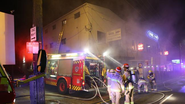 Firefighters at the scene on Parramatta Road, Concord / Picture: Richard Dobson