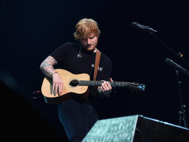 Ed Sheeran's broken arm could put his upcoming tour dates in jeopardy. Picture: Ilya S Savenok/Getty Images for Atlantic Records
