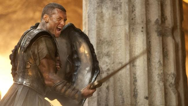 Sam Worthington gives it a roar go in Clash Of The Titans.