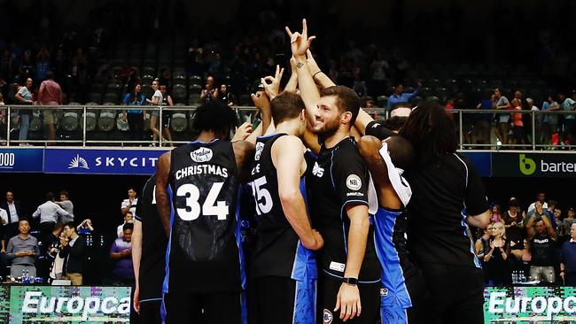 The Breakers were pretty happy with their win. Pic: Getty Images