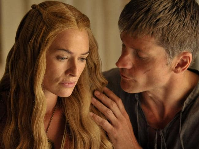 Coster-Waldau, right, as the incestuous Jaime Lannister.