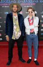 Jagwar Ma arrive on the red carpet for the 31st Annual ARIA Awards 2017 at The Star on November 28, 2017 in Sydney, Australia. Picture: AAP